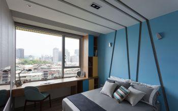 小户型现代简约卧室背景墙设计图片