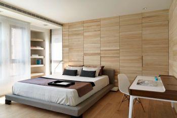 卧室黄色书桌现代简约风格装饰设计图片