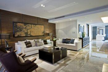現代中式風格90平米兩室兩廳房屋裝修效果圖