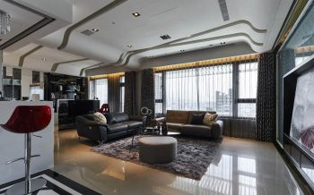 现代简约风格100平米完美家居二居室装修效果图