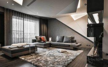 后现代古典风格110平米豪装三居装修效果图