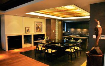 餐厅黑色餐桌日式风格装饰图片