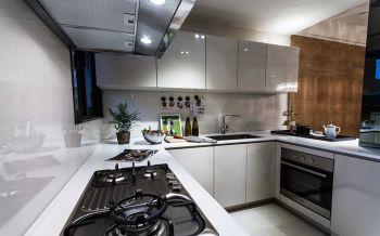 厨房白色现代简约风格装饰设计图片
