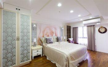 卧室粉色背景墙简欧风格装饰效果图