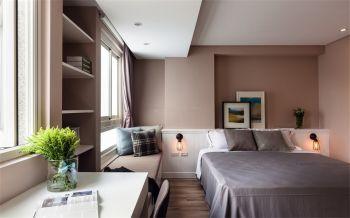 卧室咖啡色飘窗简约风格装修效果图
