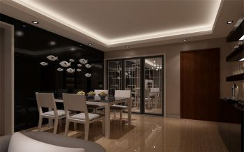 餐厅白色吊顶现代简约风格装饰图片