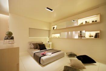 卧室白色榻榻米现代风格装潢图片