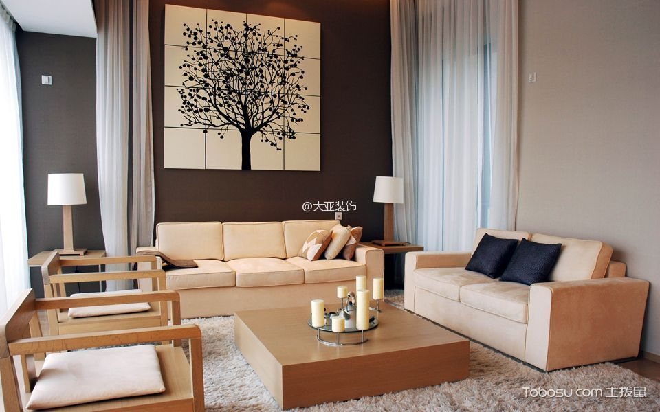 2021韩式150平米效果图 2021韩式三居室装修设计图片