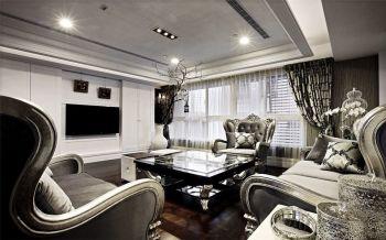 简欧风格120平米古典奢华三居装修效果图