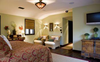 卧室黄色背景墙欧式风格效果图