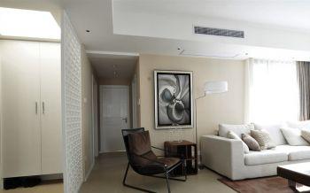 客厅白色走廊简约风格装饰设计图片