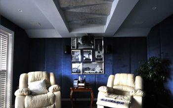 蓝色照片墙新古典风格装修图片