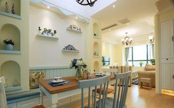 地中海风格160平米素雅之风三居室装修效果图