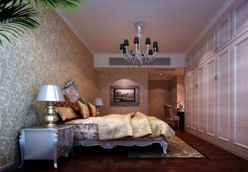 卧室白色床简欧风格效果图