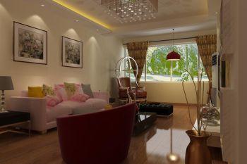 客厅黄色背景墙现代简约风格装修设计图片