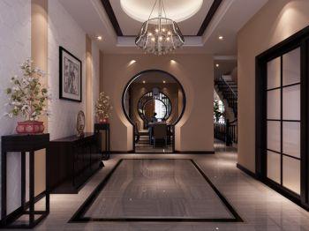 走廊现代中式风格装潢设计图片
