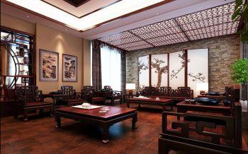 万辉星城中式古典风格160平米大户型装修效果图