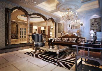 现代中式风格160平米中海国际两层别墅装修效果图