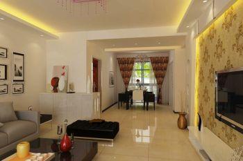 现代简约风格110平米时尚三居室装修效果图