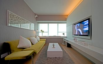 客厅飘窗现代简约风格装修设计图片