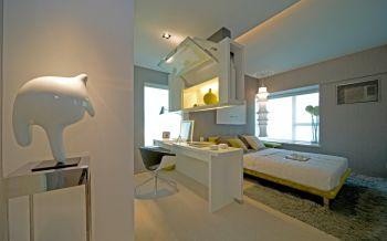 现代简约风格60平米豪华一居室装修效果图