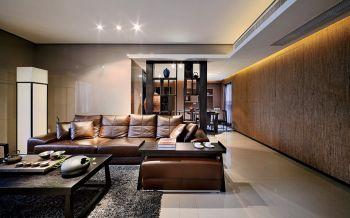 现代中式风格160平米三居室装修效果图