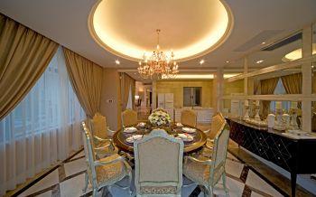 餐厅窗帘欧式风格装潢图片