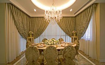 餐厅窗帘欧式风格装饰图片