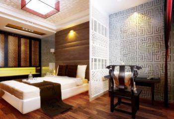 卧室白色隔断中式风格装饰设计图片