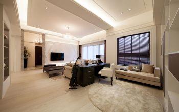 古典英伦风格110平米二居装修效果图