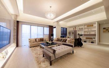 客厅窗帘古典风格装饰设计图片