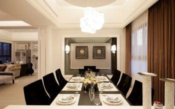 餐厅窗帘古典风格装潢设计图片