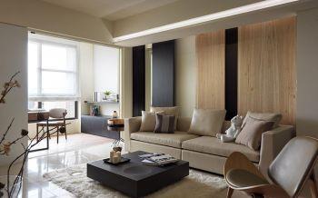 现代简约风格90平米清新两居装修效果图