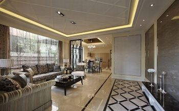客厅白色走廊现代欧式风格装修效果图