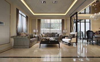 现代欧式风格160平米豪华别墅装修效果图