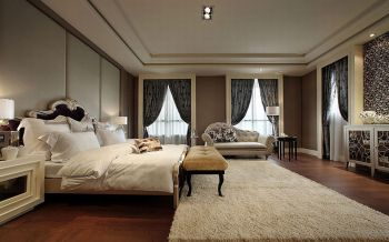 卧室白色现代欧式风格装饰图片