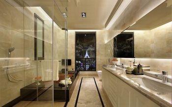 卫生间白色现代欧式风格装潢图片