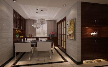 餐厅咖啡色餐桌现代简约风格装潢设计图片