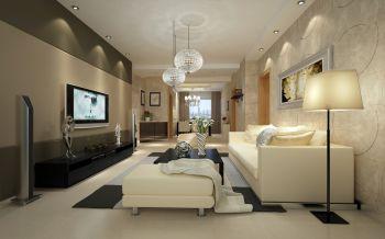 现代简约风格160平米三居室装修效果图