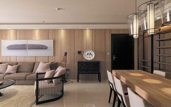客厅黄色背景墙现代简约风格装潢效果图
