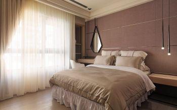 卧室黄色窗帘现代简约风格装潢图片