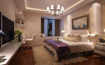 卧室白色床混搭风格装潢设计图片