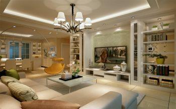 客厅白色现代简约风格装修图片
