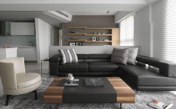 现代简约风格80平米两居室装修效果图