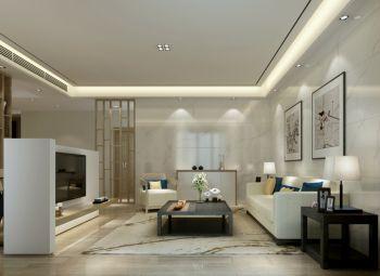 山水庭院现代中式风格180平米三居装修效果图