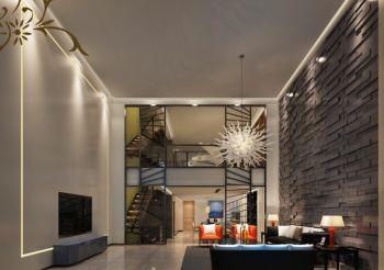 简约风格100平米复式楼房装修效果图