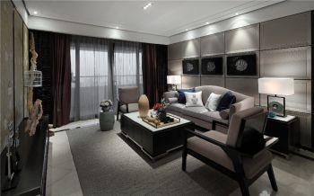 2020现代中式150平米效果图 2020现代中式三居室装修设计图片