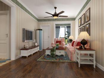 客厅黄色走廊地中海风格装潢图片