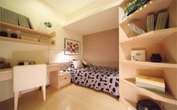 卧室粉色榻榻米现代简约风格装饰图片