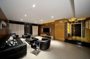 现代简约风格160平米木质三居装修效果图